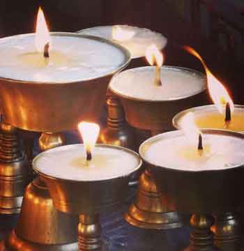 Photo of candles.