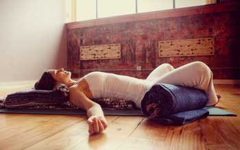 Photo of Restorative Yoga.
