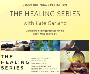 The Healing Series Workshops Graphic.