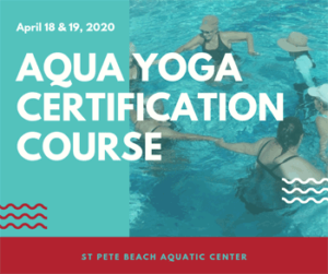 Graphic for Aqua Yoga Certification Course.