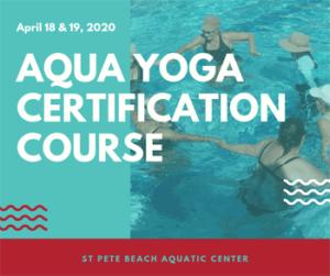 Graphic for Aqua Yoga Certification Course.
